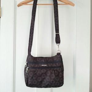 Travelon Medium Crossbody Bag Brown Floral